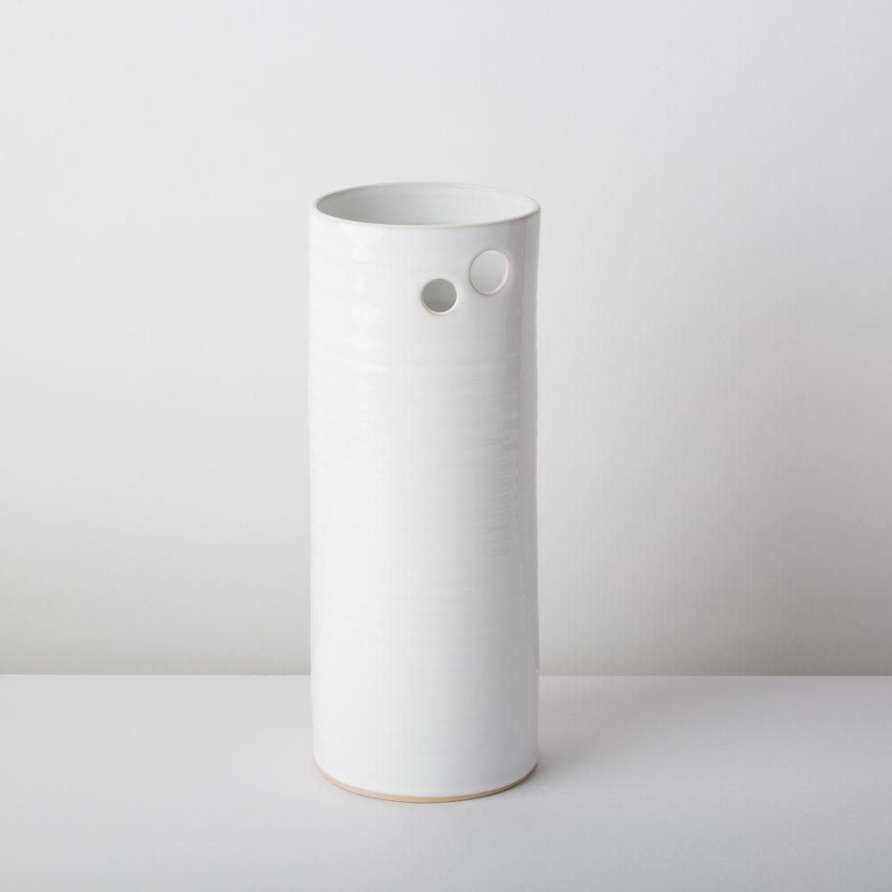 Diem Pottery Vase Medium White