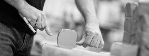 Preparing clay at Diem Pottery, Ashbourne, Co Meath, Ireland